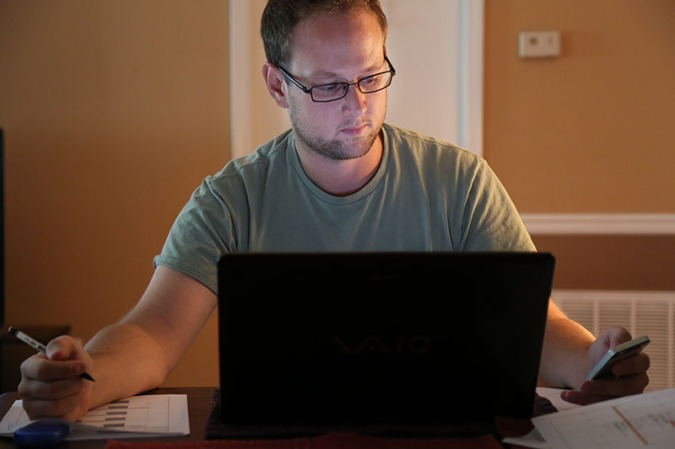 Michael Tolbert works on the website and social media at command central. Tolbert, an undergraduate at University of South Carolina, also has his own production company.