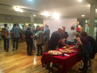 Filmmakers who attended the festival gather to enjoy good food and great conversation.