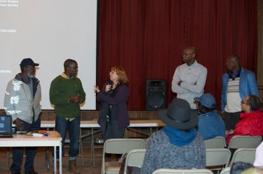 Farmer Ben Johnson, Producer, Sherard Duvall, Director, Denise McGill, Director of Music, Dr. Eric Crawford and Story Consultant, Ron Daise host a Q&A after the film screening.